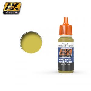 AK Interactive DUNKELGELB HIGH LIGHT 17 ml