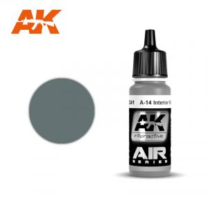 AK Interactive A-14 nterior Steel Grey