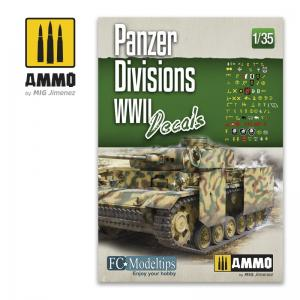 Ammo Mig Jimenez PANZER DIVISIONS WWII. DECALS