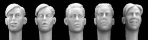 Hornet Models 5 heads of youths with WWII haircuts