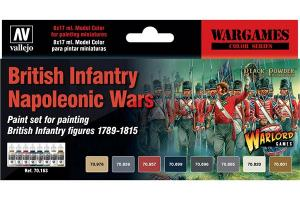 Vallejo Model Color Set - British Infantry Napoleon Wars (x8)