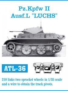 Friulmodel Pz.Kpfw. II Ausf. L Luchs - Track Links w Sprocket Wheels