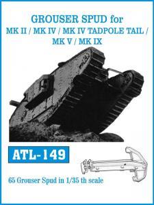 Friulmodel Mk II/Mk IV/Mk IV Tadpole Tail/Mk V/Mk IX Grouser Spud Tracks - Track Links