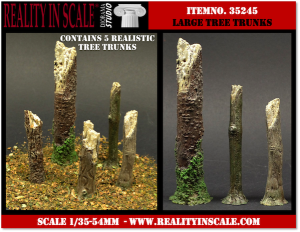 Reality in Scale Large Tree Trunks - 5 resin pcs.