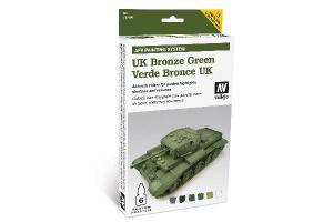 Vallejo Model Air - UK BRONZE GREEN 6x8ml