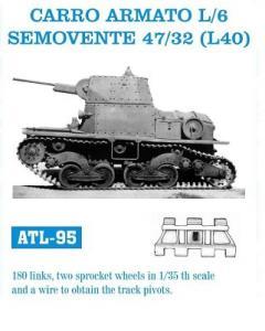 Friulmodel Carro Armato L6, Semovente 47/32 - Track Links