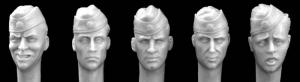 Hornet Models 5 heads w SS sidecaps (change insignia for WW2 LW or Navy)