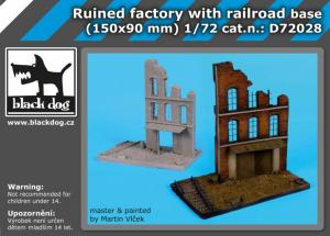 Black Dog Ruined Factory with Railroad Base (150x90mm)