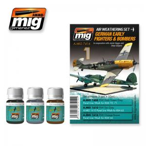 Ammo Mig Jimenez German Early Fighters and Bombers, Weathering set, 3x35ml.