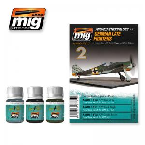 Ammo Mig Jimenez German Late Fighters, Weathering set, 3x35ml.