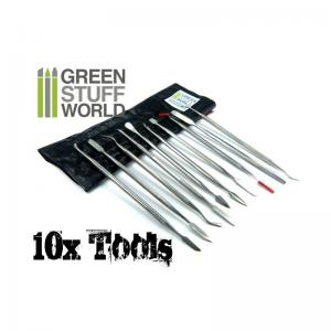 Green Stuff World 10x Sculpting Tools