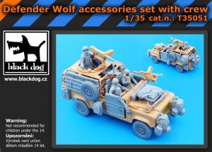 Black Dog Defender Wolf - Accessory Set w/ Crew (HBB)