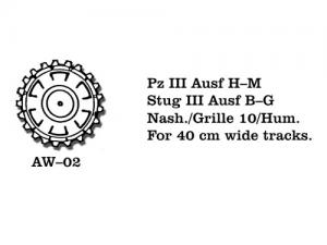 Friulmodel PzKpfw. III Ausf. H-M/ StuG III Ausf. B-G/Nashorn/Grille 10/Hummel - Drive Spric