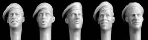 Hornet Models 5 heads, berets Brit. 40s, 50s style
