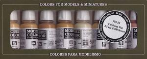 Vallejo Model Color Set - Face & Skintones (8 colors)
