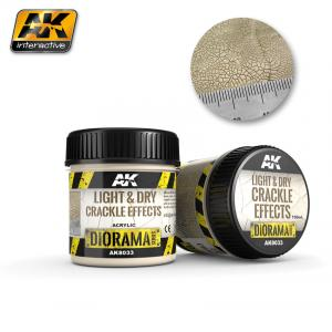 AK Interactive LIGHT & DRY CRACKLE EFFECTS - 100ml (Acrylic)