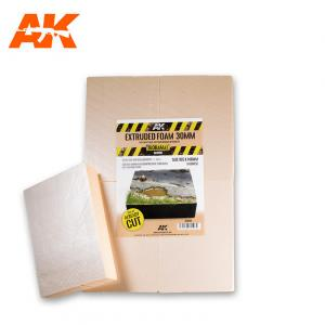 AK Interactive EXTRUDED FOAM 30 MM A4 SIZE ALREADY CUT (4 UNITS)