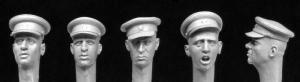 Hornet Models 5 heads, Soviet WW2 officer's caps