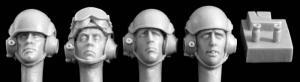 Hornet Models 4 heads, modern UK tank crew, 2 jigs to make mics