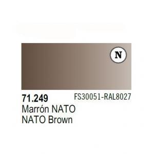 Vallejo Model Air 249 - Model Air 249 - NATO Brown FS 38851 - RAL 8027