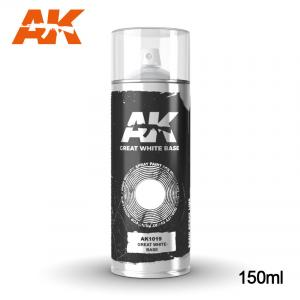 AK Interactive Great White Base - Spray 150ml