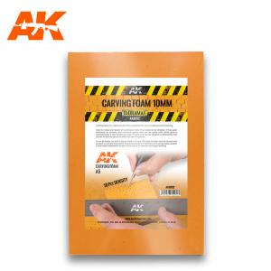 AK Interactive CARVING FOAM 10MM A5 SIZE (228 x 152 MM)