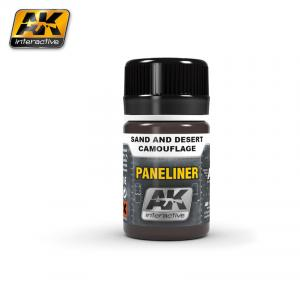 AK Interactive Paneliner for sand and desert camouflage 35ml