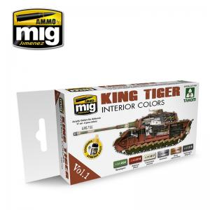 Ammo Mig Jimenez King Tiger Interior Color (special Takom edition) VOL.1