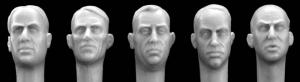 Hornet Models 5 Bare Heads with Mature Faces