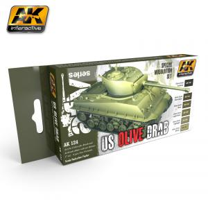 AK Interactive OLIVE DRAB MODULATION SET