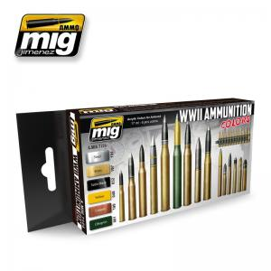 Ammo Mig Jimenez WWII Ammunition, color set 6x17ml.