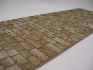 Reality in Scale Old Cobblestone Road / Sidewalk, Big Stones. Laser cut cardboard. Incl. bag