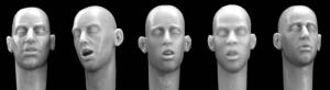 Hornet Models 5 bare heads with sleeping or exhausted expressios