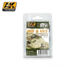 AK Interactive OIF & OEF - US VEHICLES WEATHERING SET