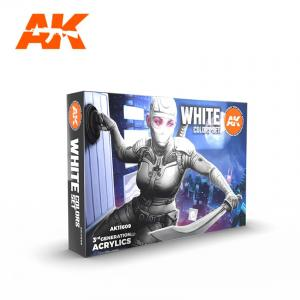 AK Interactive WHITE COLORS SET