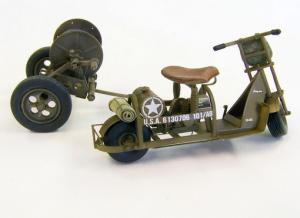 Plus Model U.S. Airborne scooter with reel