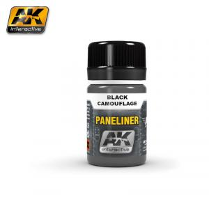AK Interactive Paneliner for black camouflage 35ml