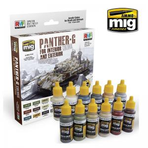 Ammo Mig Jimenez PANTHER-G Colors Set for Interior and Exterior Set