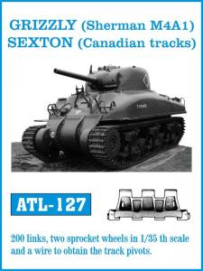 Friulmodel GRIZZLY (Sherman M4A1), SEXTON (Canadian tracks) - Track Links