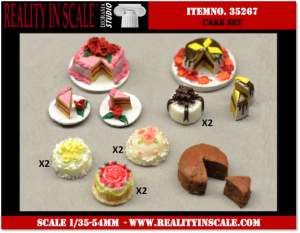 Reality in Scale Cake Set - 14 pcs.