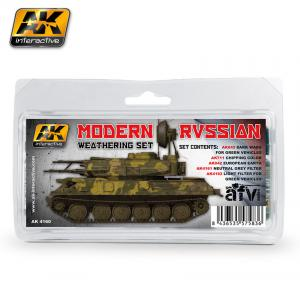 AK Interactive MODERN RUSSIAN WEATHERING SET