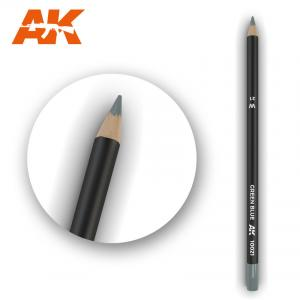 AK Interactive Watercolor Pencil Green Blue