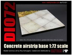 Reality in Scale Concrete Airstrip Base