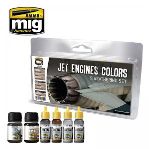 Ammo Mig Jimenez Jet engines colors and weathering set