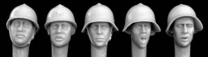 Hornet Models 5 heads, Soviet early WW2 helmets