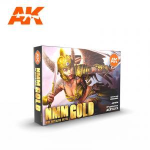AK Interactive NMM (NON METALLIC METAL) GOLD SET