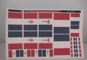 Reality in Scale French War Flags on Real Cotton
