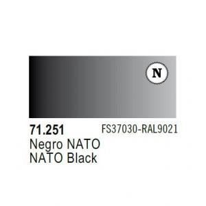 Vallejo Model Air 251 - Model Air 251 - NATO Black FS 37030/RAL 9021