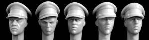 Hornet Models 5 heads, British officer's type peaked cap