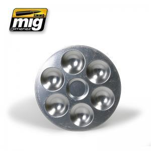 Ammo Mig Jimenez Aluminium Pallet (6 Wells)